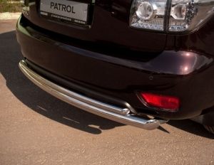 Nissan Patrol 2010 защита заднего бампера  d76/42  PAZ-000783